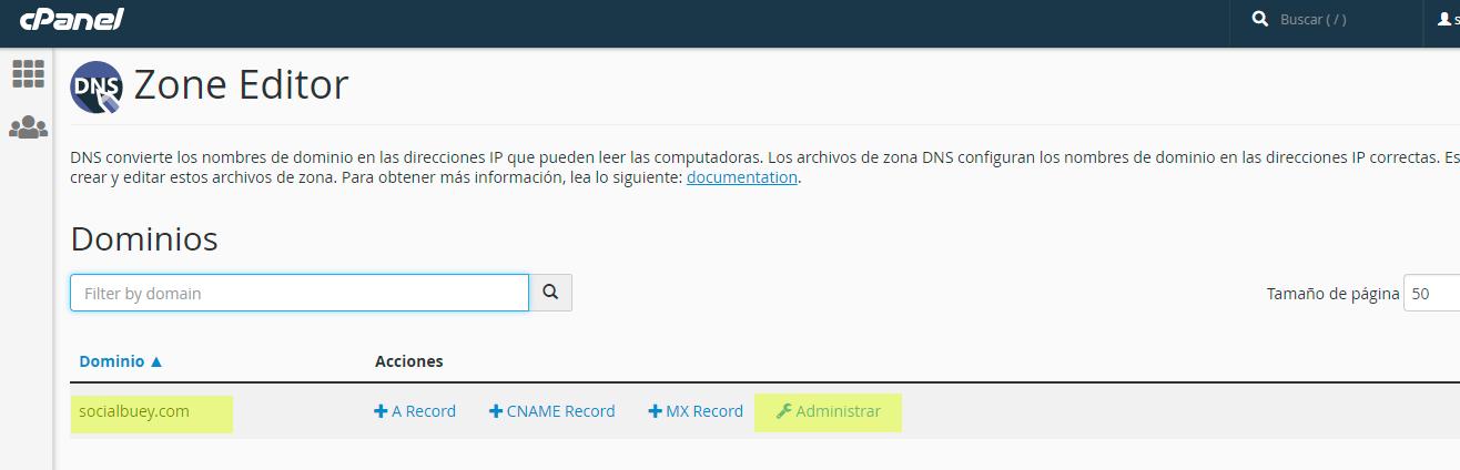Configuracion CPANEL 2